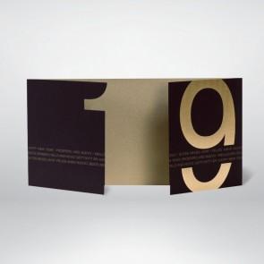 Neujahrskarte in schwarz matt mit gold