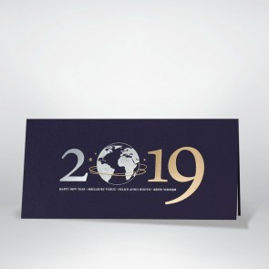 Blaue Neujahrskarte