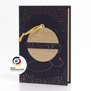 Goldene Weihnachtskugel - 860006