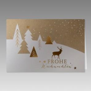 Weihnachtskarte im schlichten Design