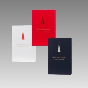 Elegante Weihnachtskarte in drei Farben