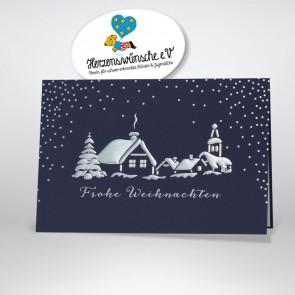 Spendenkarte mit Winterlandschaft - 868060
