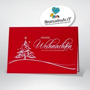 Weihnachtskarte in schwungvollem Design
