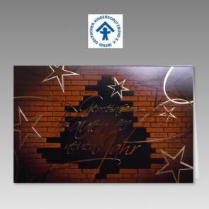 Spenden-Weihnachtskarte Deutscher Kinderschutzbund mit Steinmauer