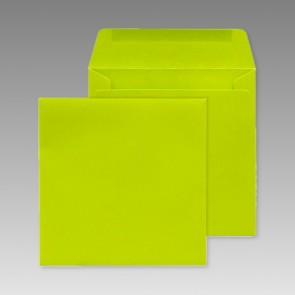 Grüner Umschlag, quadratisch