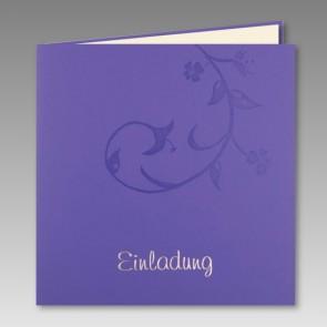 Einladungskarte Kommunion in lila