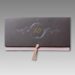 Edle Einladung zum 50. Geburtstag mit Schleife