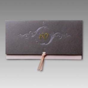 Edle Einladung zum 60. Geburtstag mit Schleife