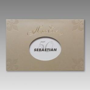 Einladung zum 50. Geburtstag in attraktivem Design