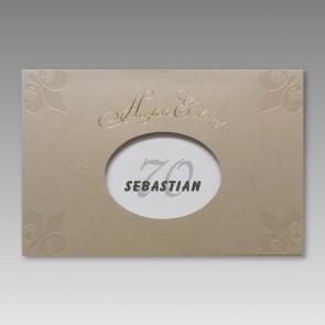 Einladung zum 70. Geburtstag in attraktivem Design