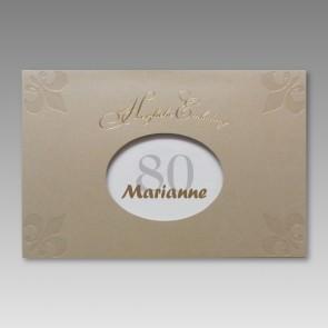 Einladung zum 80. Geburtstag in attraktivem Design