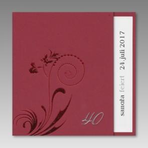 Einladungskarte zum 40. Geburtstag