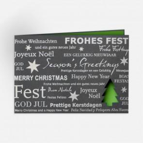 Weihnachtskarte zum günstigen Preis