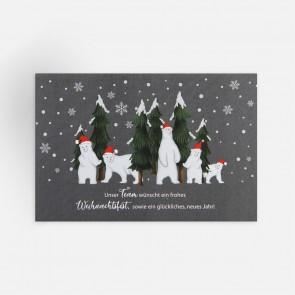 Weihnachtskarte Vorderansicht
