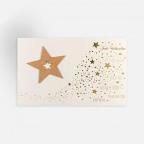 Stern aus Holzfurnier - FW18022