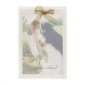Fotodankkarte zur Hochzeit mit Dankestext
