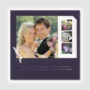 Danksagungskarte zur Hochzeit, lila