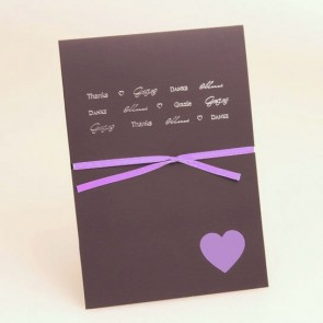 Foto Dankeskarte zur Hochzeit mit Herz