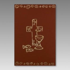 Religiöse Konfirmationseinladung