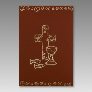 Religiöse Kommunionseinladung