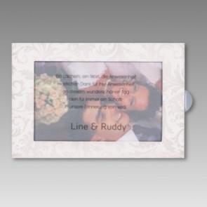 Sofort aufstellbare Dankeskarte zur Hochzeit mit Foto