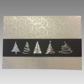 Frontansicht Weihnachtskarte mit Silberprägung