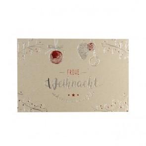 Naturkarton-Weihnachtskarte FW17944