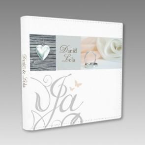 Hochzeits-Fotoalbum mit personalisierter Vorderseite
