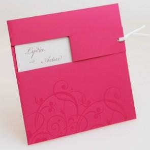 Hochzeitseinladung in Pink