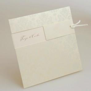 Einladung Hochzeit mit Blumenornamenten