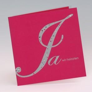 moderne Einladungskarte Hochzeit, pink