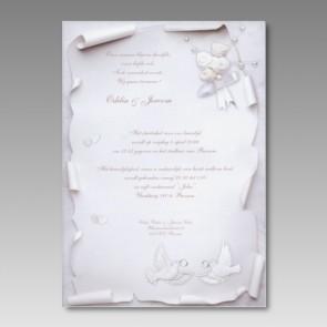 Günstige Einladung Hochzeit, romantisch