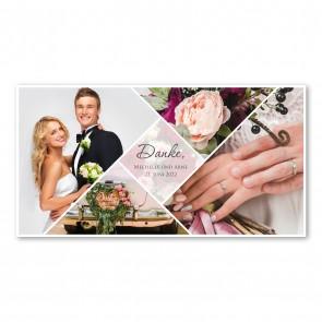 Zur Hochzeit Danke sagen mit Foto - MO3011H-D