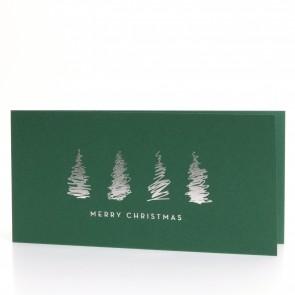 Weihnachtsbäume mit Silberprägung - MO6009