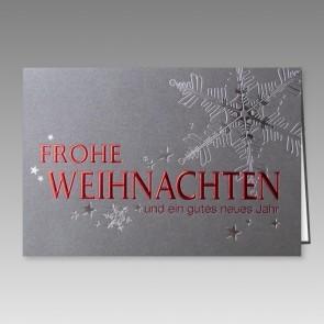 Hochklassige Weihnachtskarte in Silbermetallic