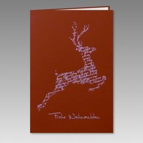 Rote Weihnachtskarte im eleganten Design - Nr RT17017