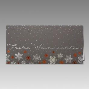 Liebevoll designte Weihnachtsgrüße, silbermetallic