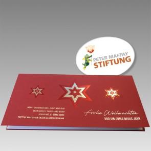 Rote Weihnachtskarte im eleganten Design - FW17984