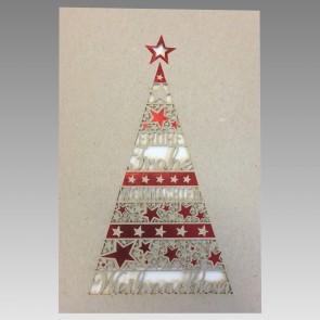 Vorderseiteansicht Weihnachtskarte