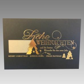 Voransicht Weihnachtskarte mit Logodruck