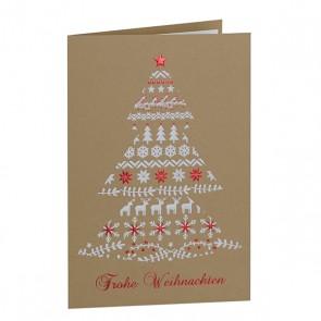 Frontansicht Weihnachtskarte