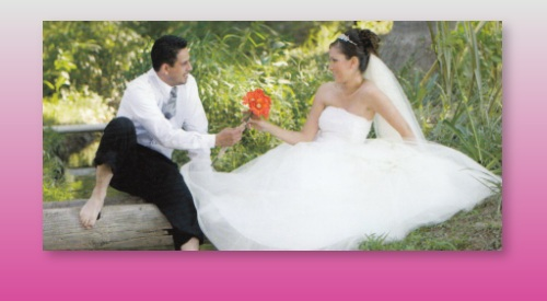 Hochzeitspaar am schönsten Tag