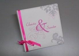 Gästebuch an der Hochzeit